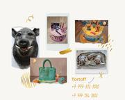 Уникальные торты в Алматы.